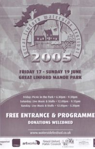 Front cover of Festival programme 17th to 19th June 2005