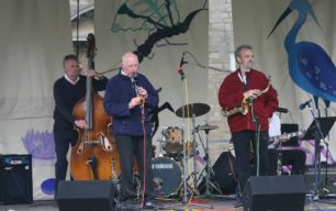 Three images of music played at the 2008 Festival
