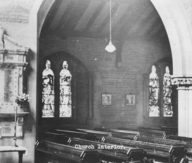 St. James Church interior during Harvest Festival.