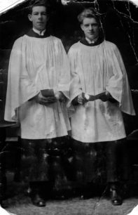 William Hood with fellow choir member, St James's Church 1924.