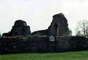 Remains of St Peter's Church in 1993