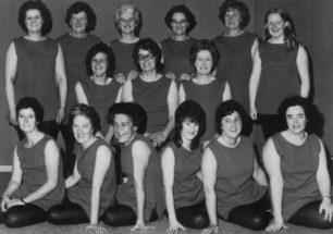 New Bradwell Mother's Club Keep Fit Team, mid 1970s.