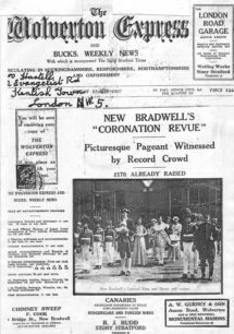 New Bradwell's Coronation Revue [newspaper cutting]