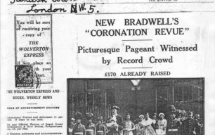 New Bradwell's Coronation Revue [newspaper cutting]