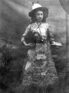 Photograph of Miss Jessie Henderson in the hospital fete in 1913.