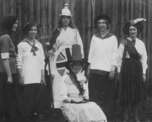 Photograph of Stantonbury girls club at Stantonbury Hospital fete