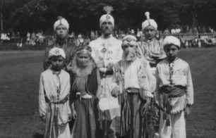 The Indian Group in the Wings for Victory Week Parade