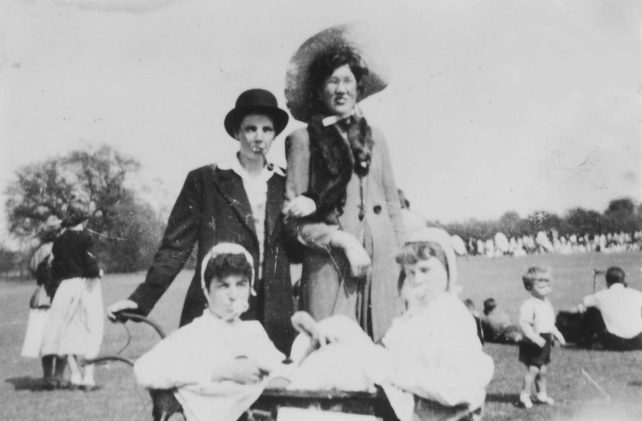 A Family Group at a Fete