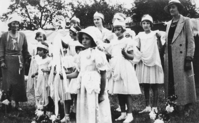 Float dressed by Frances Welch and Ethel Hood.
