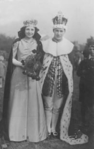 New Bradwell Coronation Review, 1937. Carnival King  and Queen.