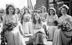 Miss New Bradwell Carnival Queen Betty Nicholls and attendants