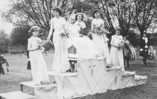 Carnival Queen and attendants.