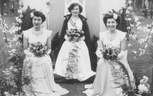 Miss New Bradwell Rosemary Smith with Daphne McCleod & Mary Fossey.