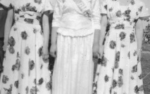 Miss Bradwell 1951 and attendants.