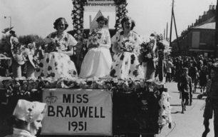 Miss Bradwell 1951 float.