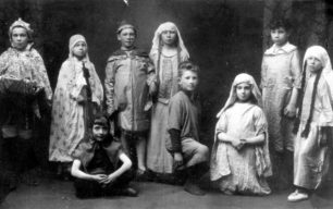 Child performers in Charlie Scott's Pantomime.
