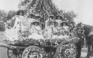 The Carnation Float in 1910.