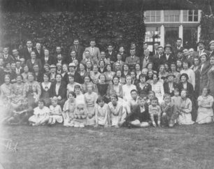 New Bradwell Silver Jubilee Celebrations, May 1935. Outdoors group photo.