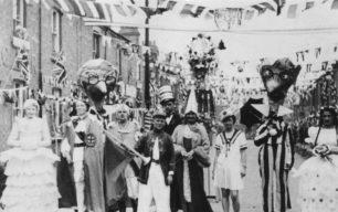 King Edward Street's winning Coronation decorations.