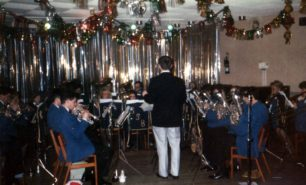 Bradwell Silver Band, performing indoors.