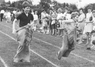 Sports day Sack Race.