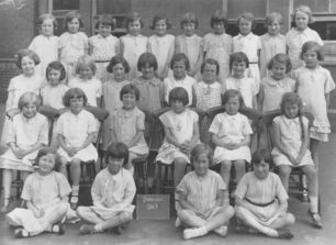 Bradwell School Std II group of Girls