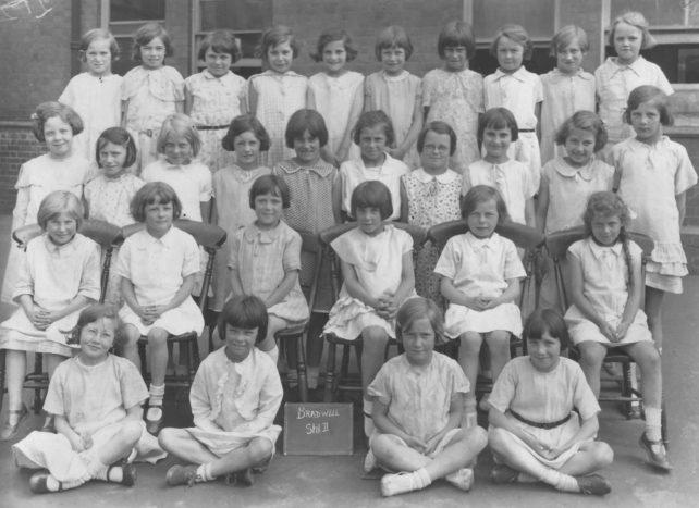 Bradwell School Std II group of Girls