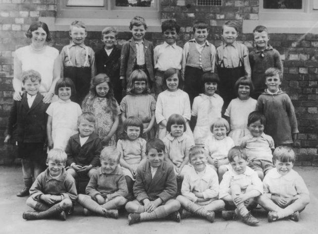 Old Bradwell School Miss Archer's Class 1931.