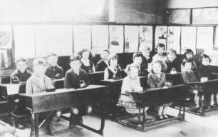 Old Bradwell School Classroom, 1939.