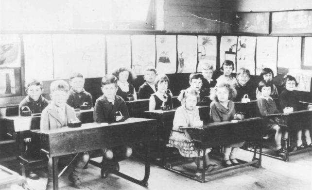 Old Bradwell School Classroom
