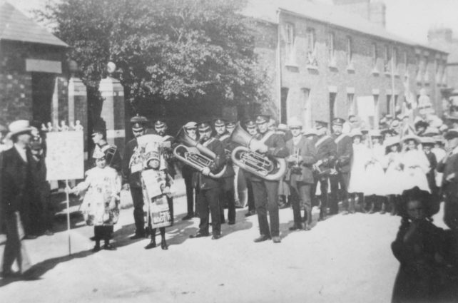 A Bradwell Silver Band procession.