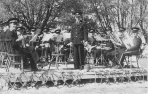 Bradwell Silver Band at the St. Peters Football Club Fete, 1948.