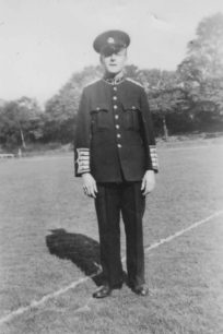 Bradwell Silver Band, Charlie Homer in the band's new uniform, 1948.