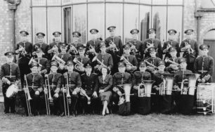Bradwell Silver Band with their President Dr Marjorie Fildes in 1953.