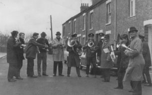 Bradwell Silver Band, Xmas morning in Queen Anne St.