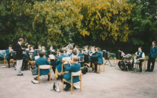 Bradwell Silver Band playing at 'The Green' Newport Pagnell.