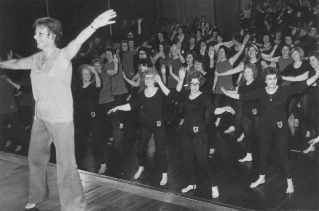 Bradwell Mothers Club keep fit class