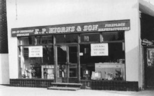 E P Hiorns & Son DIY shop in Newport Road, opening on Saturday 10th June (of an unknown year).