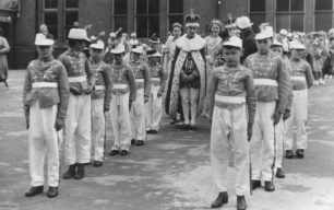 Carnival parade celebrating the Coronation 1937.