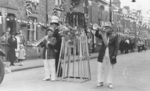 Carnival parade for the Coronation 1937. King Edward Street