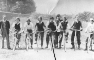 Members of the Corner Pin Eagles Cycle Speedway Club.