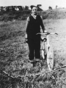 Rowland Cook, a member of the Corner Pin Eagles Cycle Speedway Club.