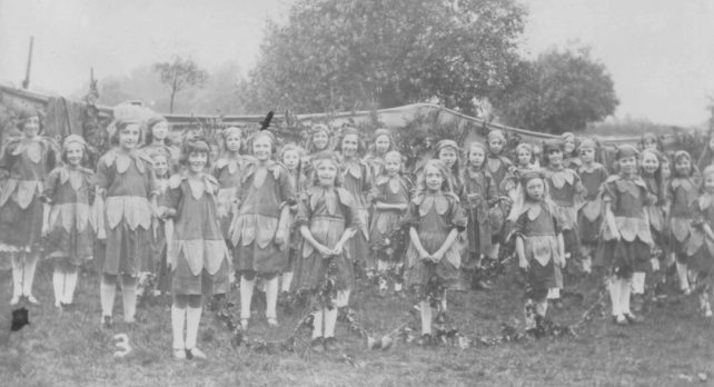 The Bluebells group of girls dressed up