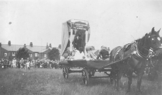Wolverton Carnival - a horse-drawn cart titled