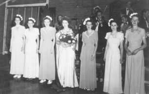 Amy Wood, Vera Clarke, Kathleen Lane, Molly Adams, Dorothy Crawford and Daphne McLeod.