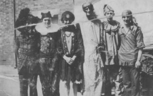 Carnival group of six men
