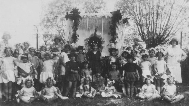 Carnival group of girls and women