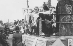 Carnival float - Eton. With Olive Overton & Peggy Hulbert