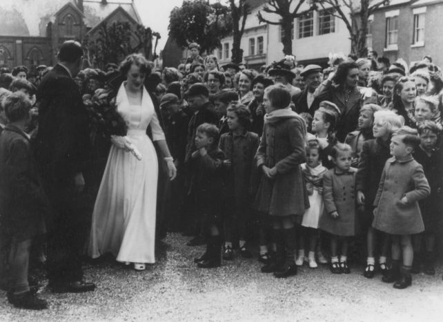 Carnival Queen Bessie Smart in Wolverton during the 1951 Festival of Britain