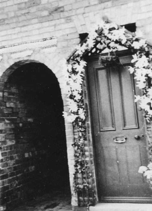 1953 Coronation - a decorated front door